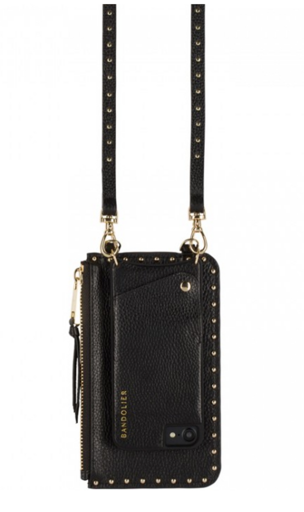The Natalie Pouch - Black & Gold