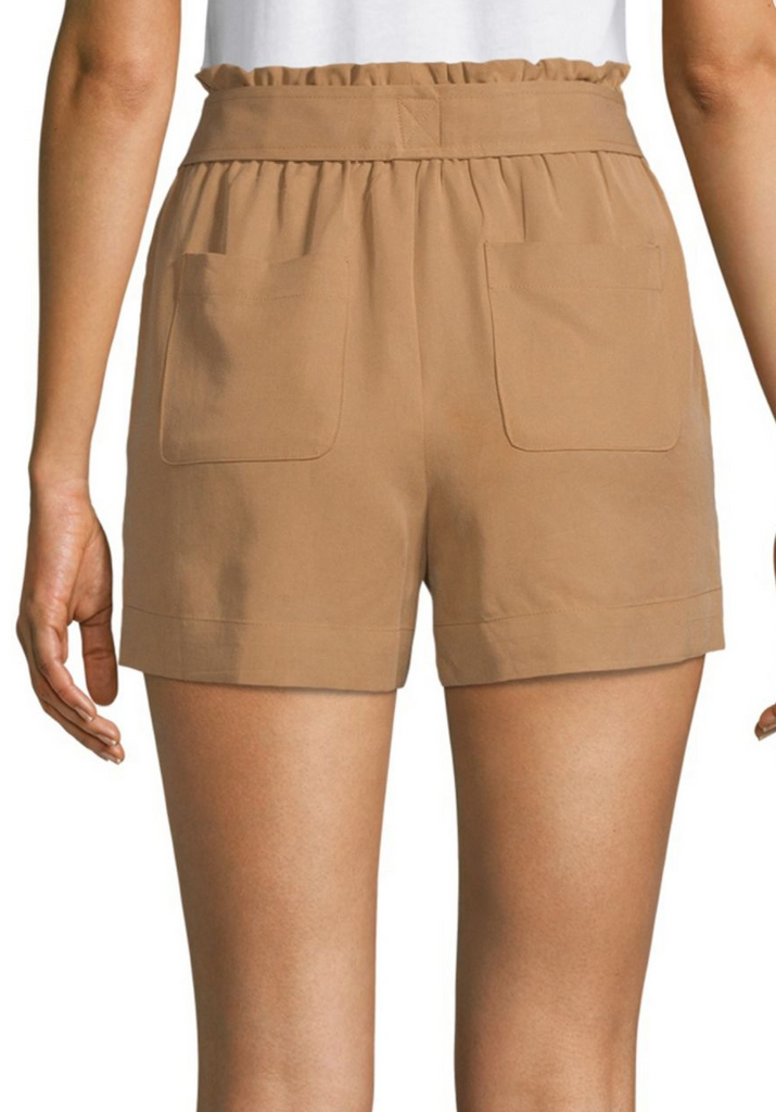 Camel High-Waisted Shorts - DI