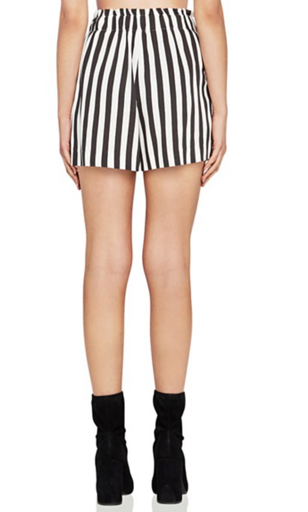 Black & White Striped Shorts - DI