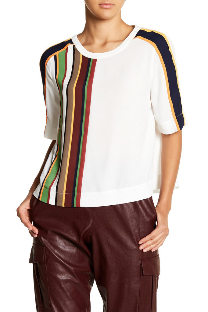 Aja Top w/Rainbow Stripes - DI