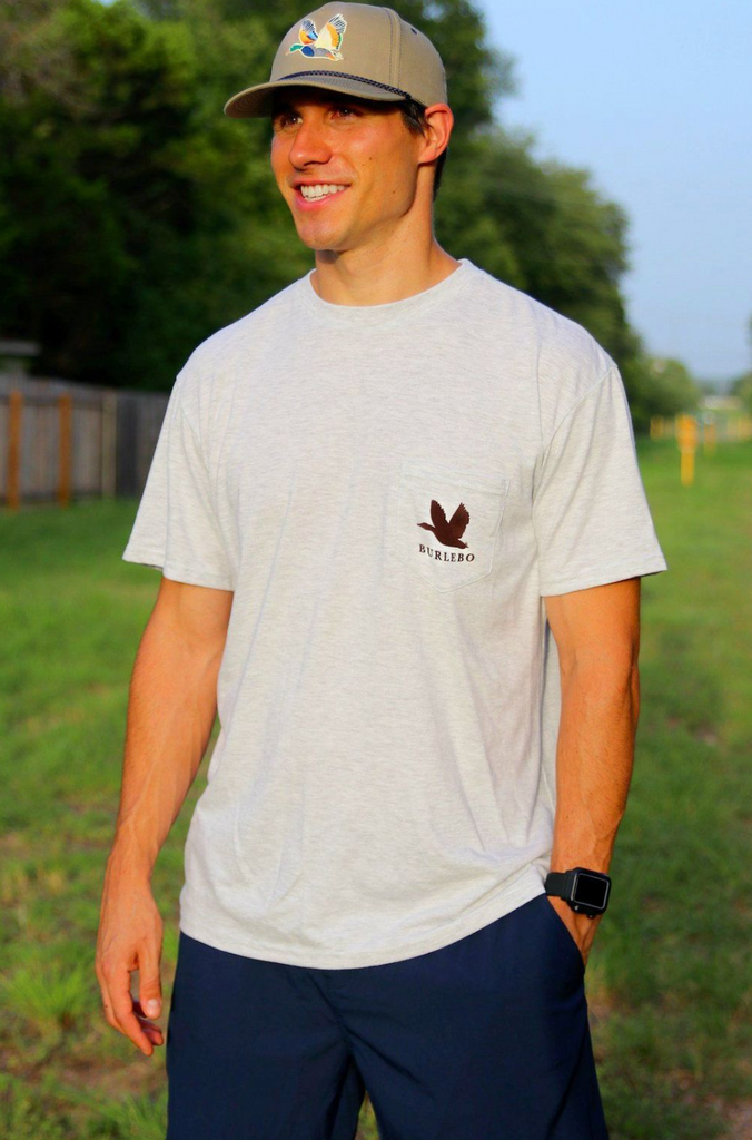 Camo Duck Pocket Tee - Ash Gray