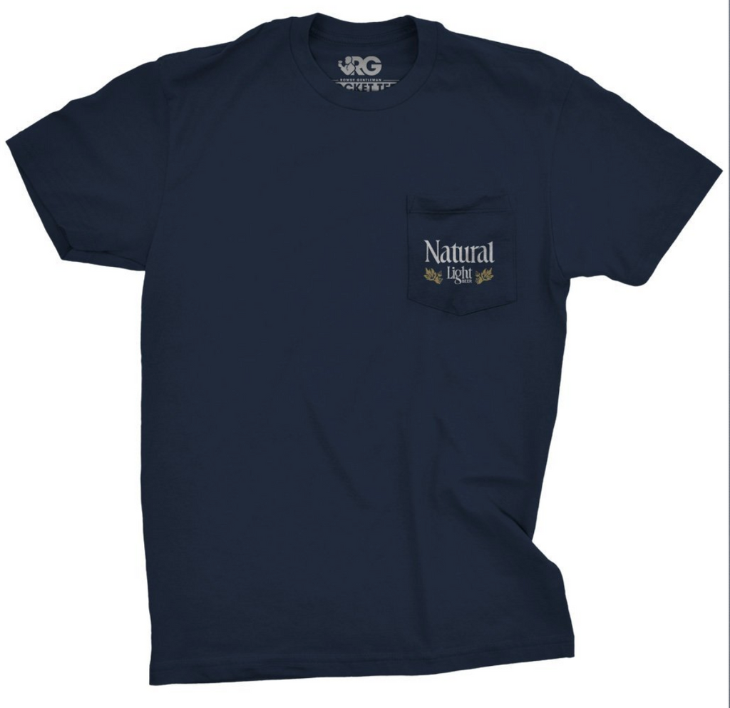 Natty Light House Short Sleeve Pocket Tee