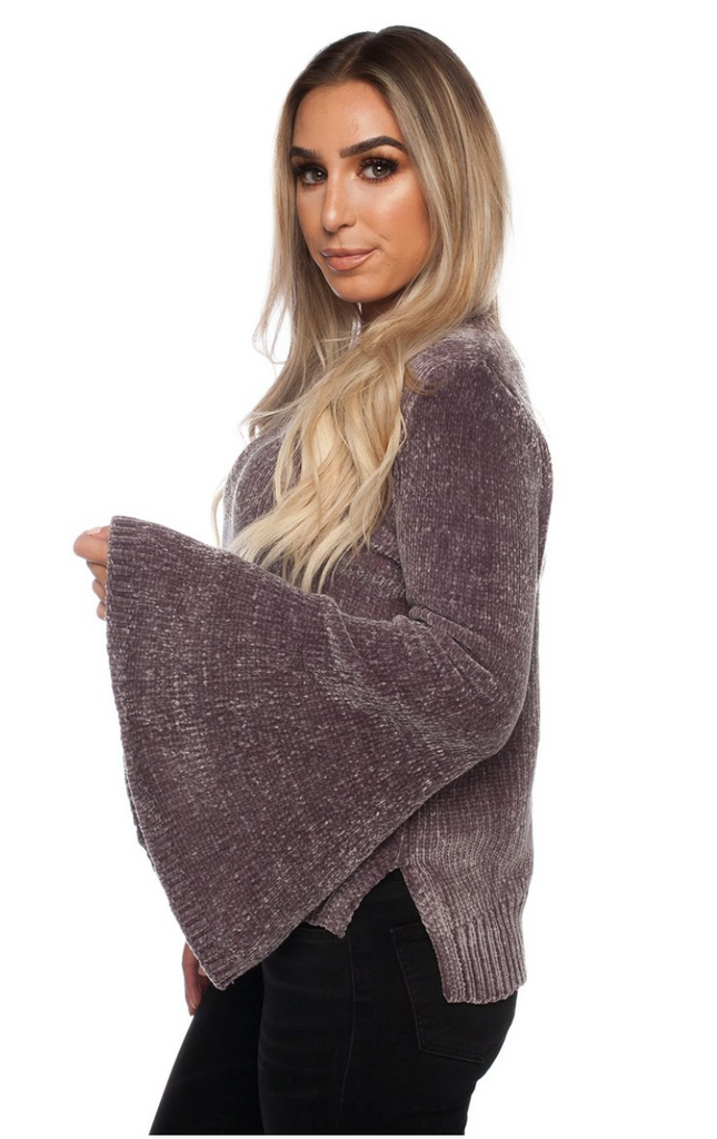 Diane Chenille Sweater - Grey