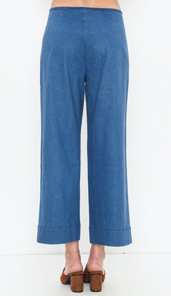 Denim Side Button Pants