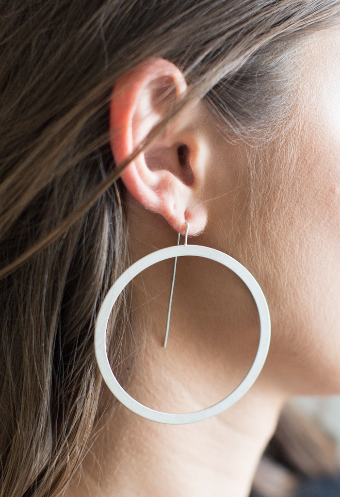 Duke Hoop Earring - Sterling Silver