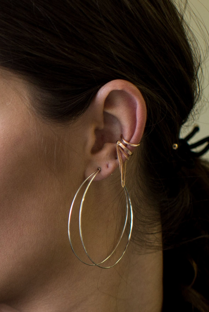 Receive Hoop Earring - Sterling Silver