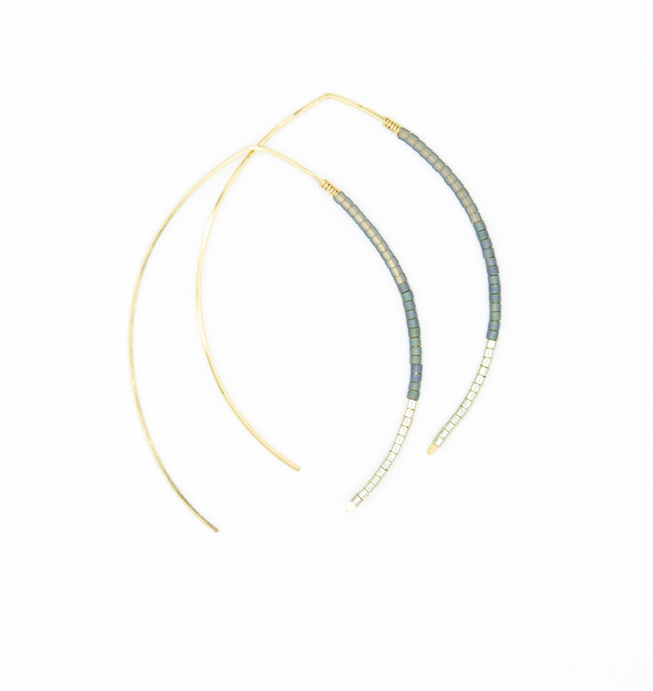 Small Johnnie Wishbone Harley Hoop - 14k Gold