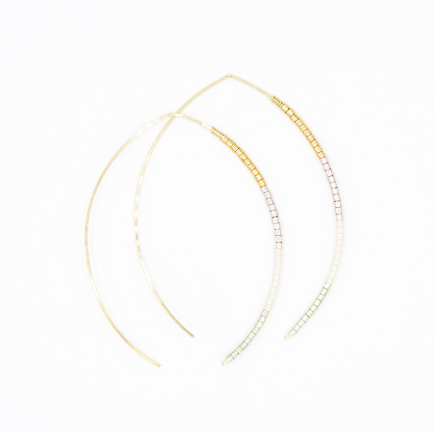 Small Johnnie Wishbone Monaco Hoop - 14k Gold