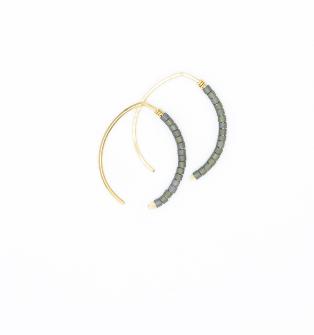 Mini Johnnie Wishbone Gun Hoop - 14k Gold