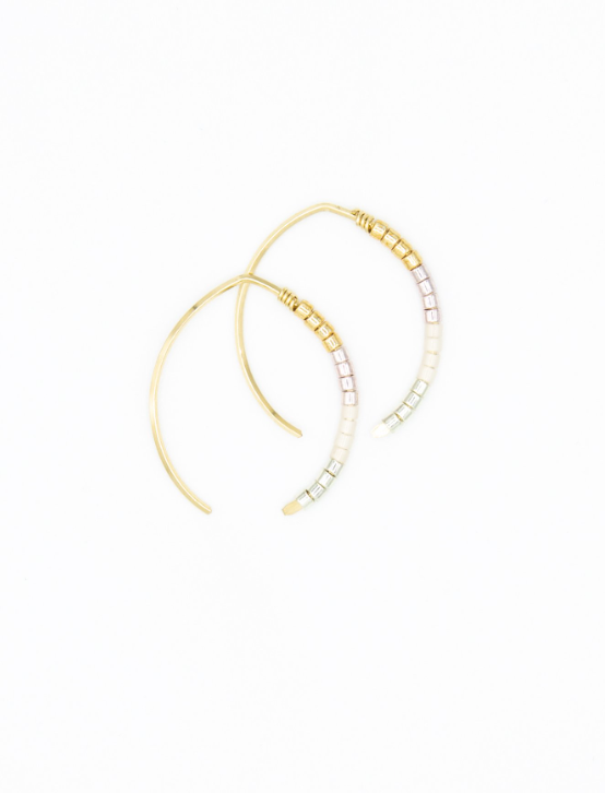 Mini Johnnie Wishbone Monaco Hoop - 14k Gold