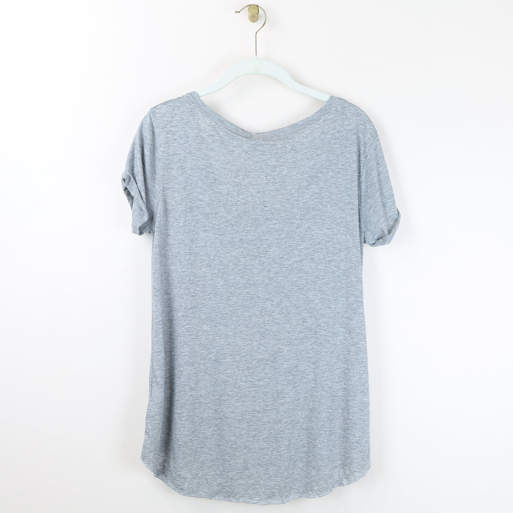 """Skinny Vodka Latte"" Top in Gray - DI"