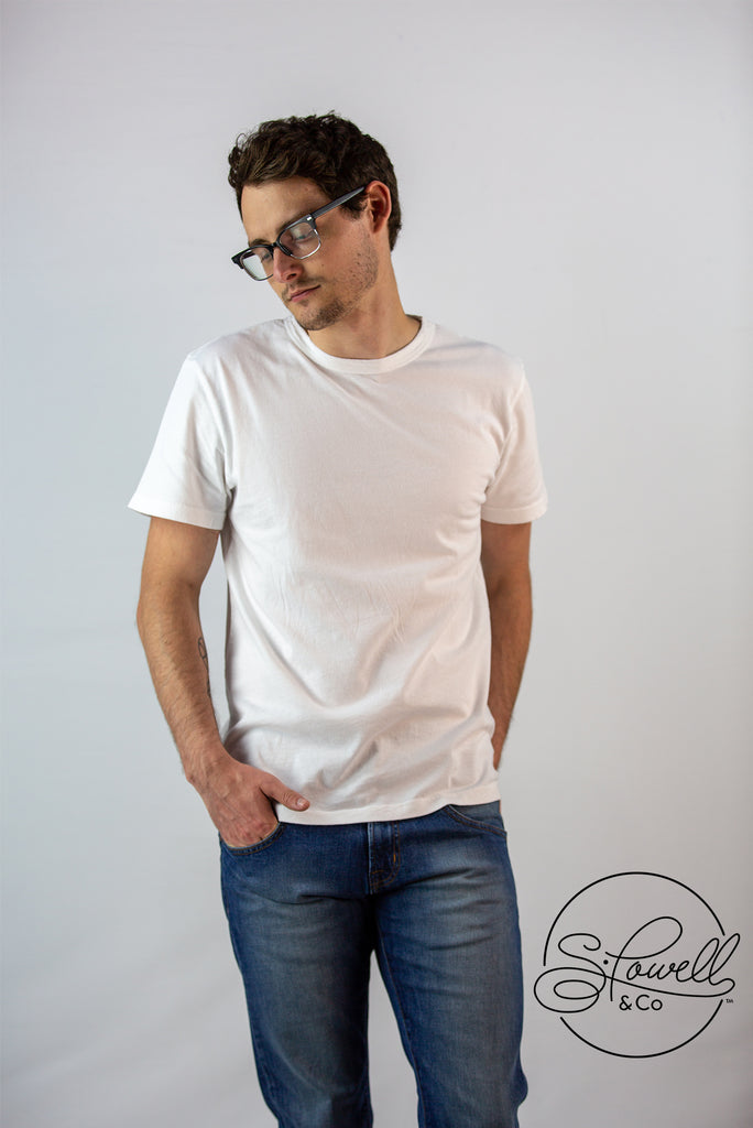 Men's Basic White Tee