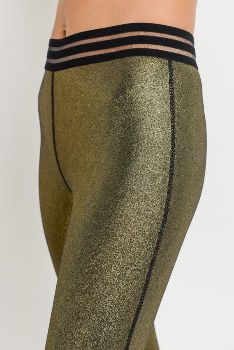 Gold Dust Highwaist Varsity Full Leggings