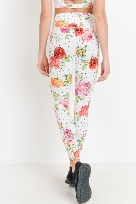 Highwaist Dots 'n Roses Full Leggings