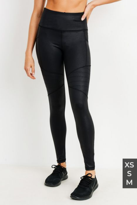 Highwaist Black Foil Moto Legging