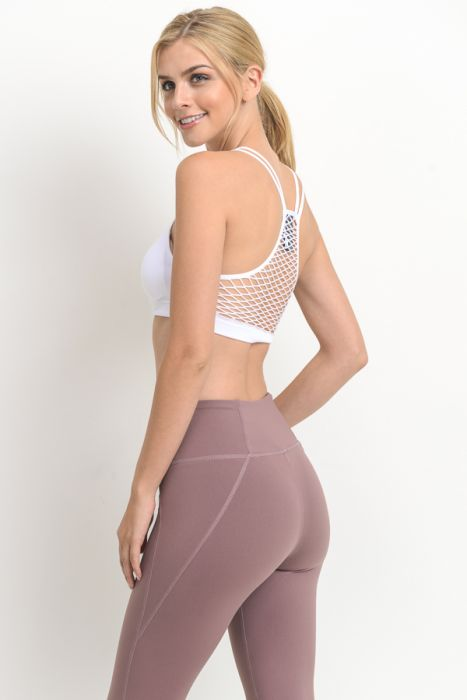 Fishnet Back Seamless Athleisure Bra