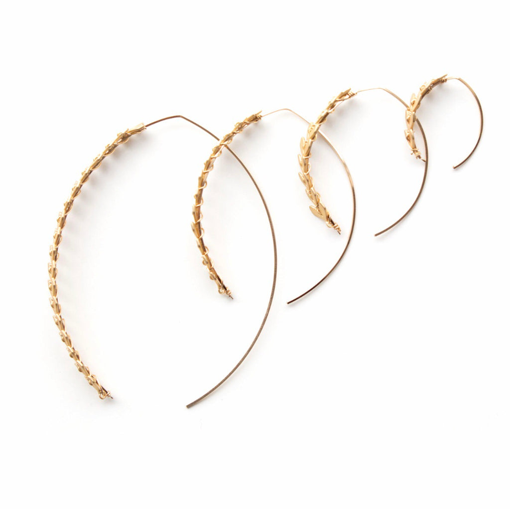 Soleil Medium Wishbone Fishtail Hoop