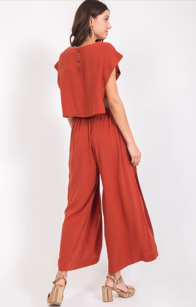 Wide Leg High Slit Pants