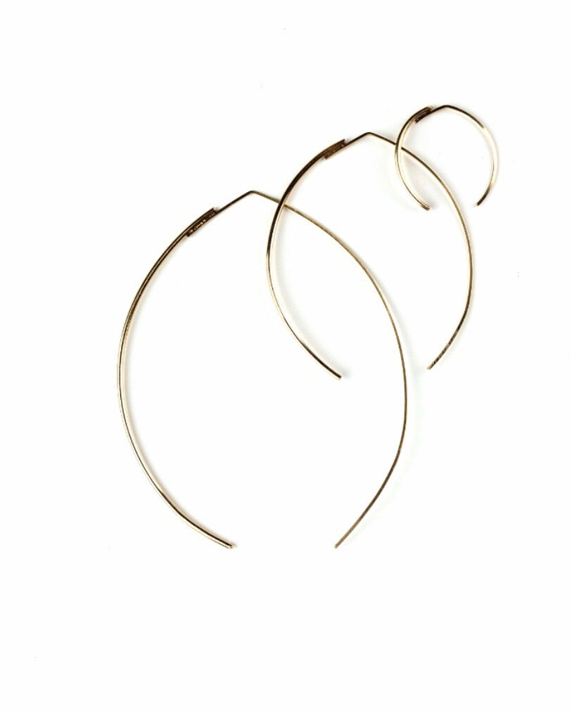 Willa Large Wishbone Earring