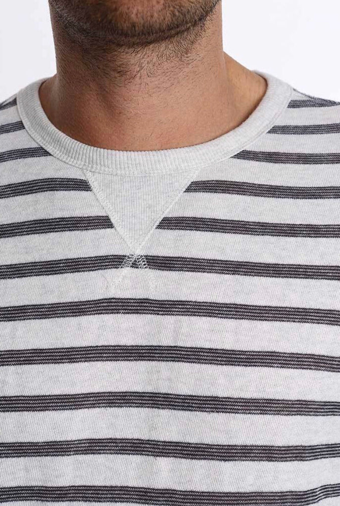 Ivory Stripe French Terry Crewneck