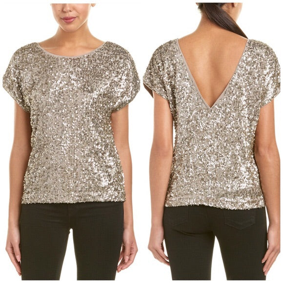 Farrah GOLD SEQUIN TOP
