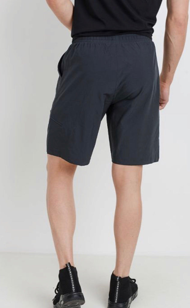 Men's Active Drawstring Shorts with Zipper