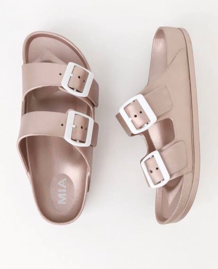 Jasmin Rose Gold Slide Sandal