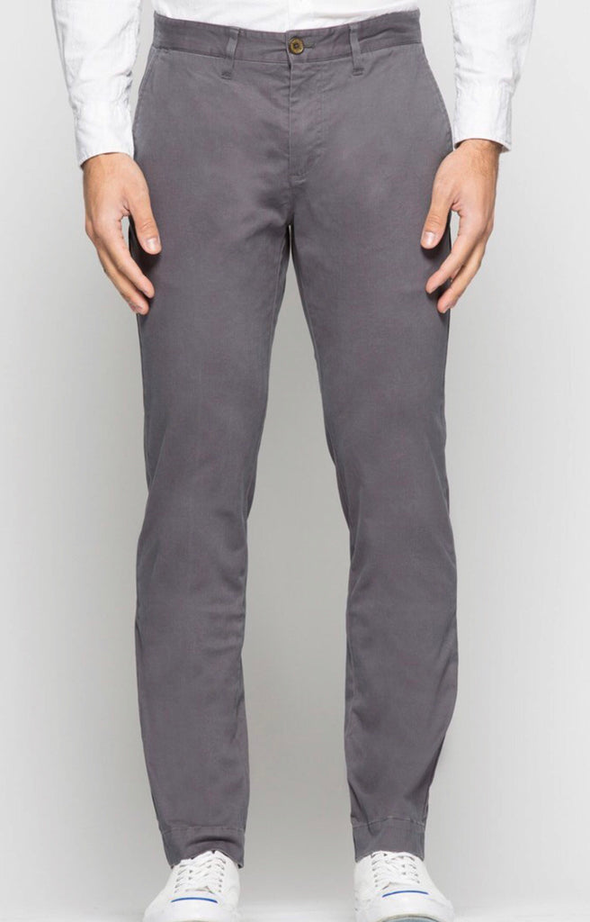 Grey Bowie Stretch Chino Pant