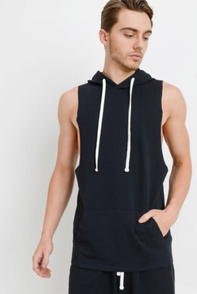 Men's Essential Muscle Hoodie Top