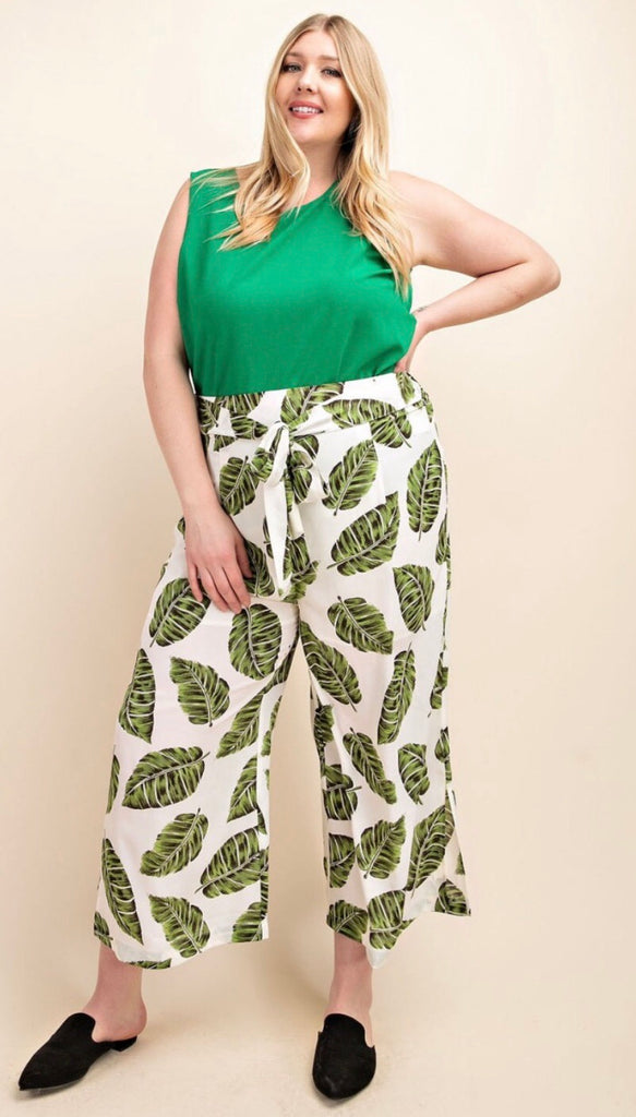 Palm Pants with Front Tie