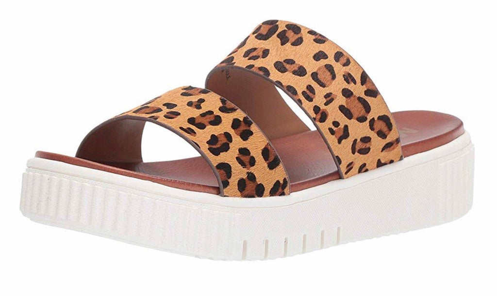 Lexi Platform Genuine Calf Hair Slide Sandal
