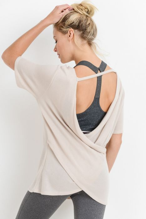 Crossback Cutout Overlay Top