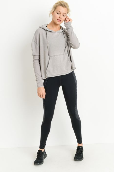 Thermal Edit-Length Boxy Hoodie Sweatshirt