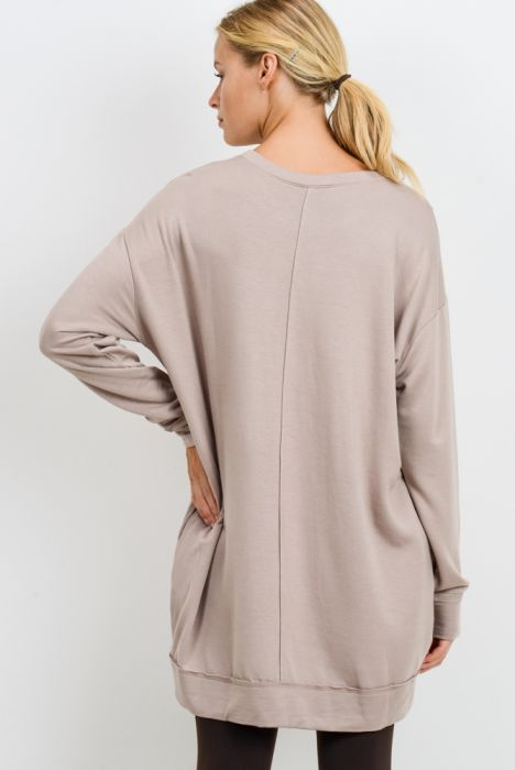 Oversized Long Sleeve Slouch Top