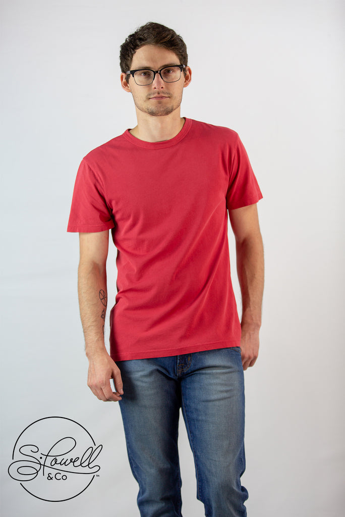 Men's Basic Red Tee