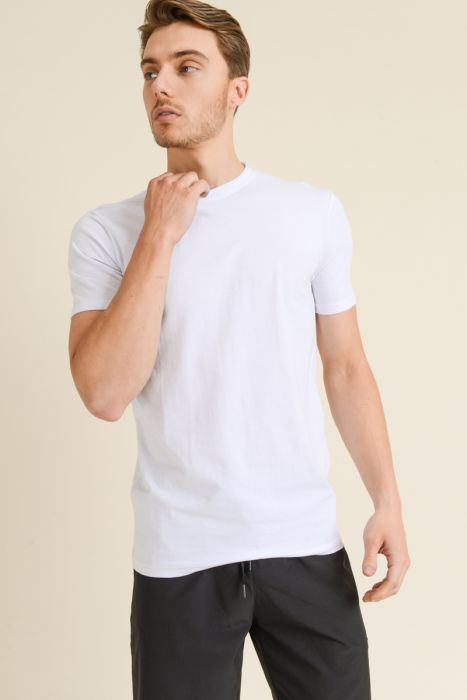 Mono B MEN - Supima® Blend Garment-Dyed Crewneck Tee