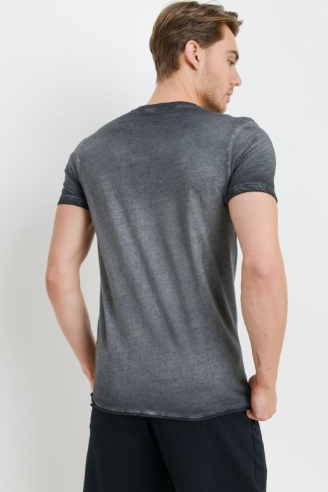 Mono B MEN - Oil Washed Crewneck Tee