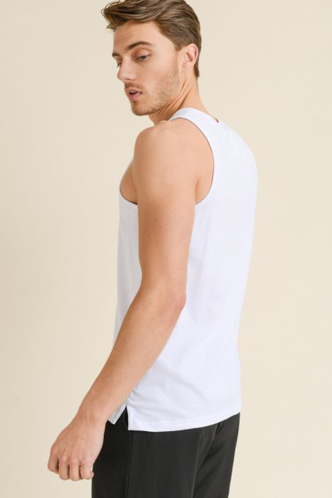 Mono B MEN - Supima® Blend Tank Top with Pocket