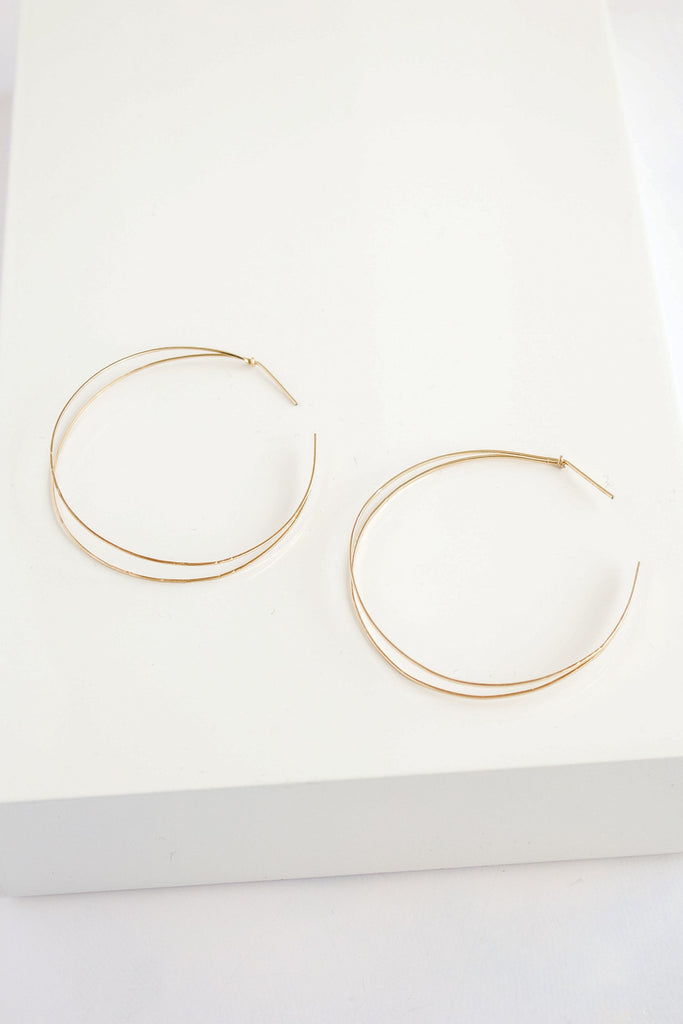 Seraphina Small Receive Hoop Earrings 14k gold