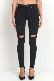 Distressed Black Skinny Jean