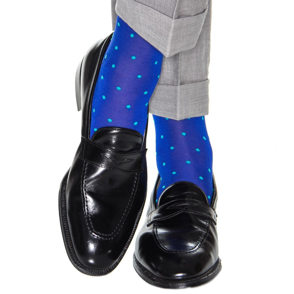 Polka Dot Cotton Sock Mid-Calf