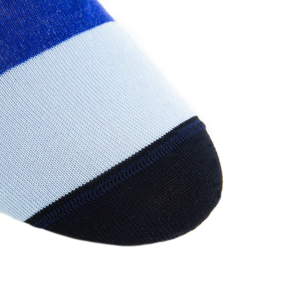 Wide Stripe with Tipping Cotton Sock