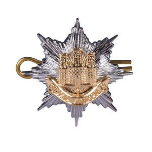Cap Badge Officer - Royal Anglian - Brass, GP & NP - Shank & Pin