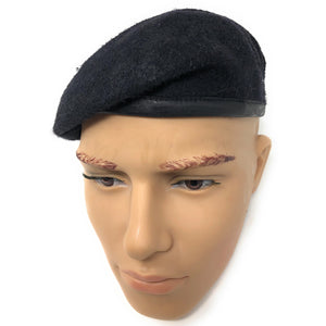 Silk Lined Military Navy Small Crown Beret- Royal Army Beret