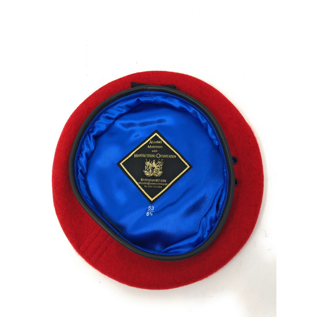Royal Military Police (RMP) Small Crown Silk Lined Red Beret