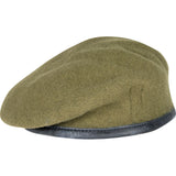 Khaki Military British Army Silk Lined Small Crown Beret