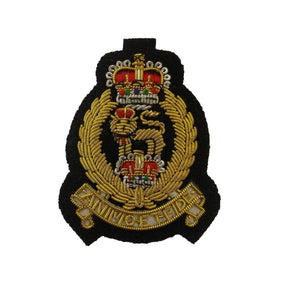 Beret Badge - AGC - Black B/G