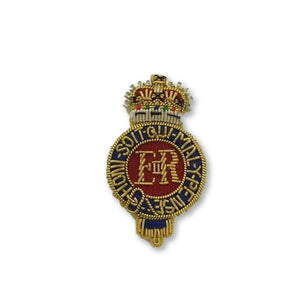 Beret Badge - Life Guards - B/W - Sil Cut
