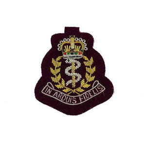 Beret Badge - RAMC Officers - Bullion Wire on Maroon [product_type] Ammo & Company - Military Direct