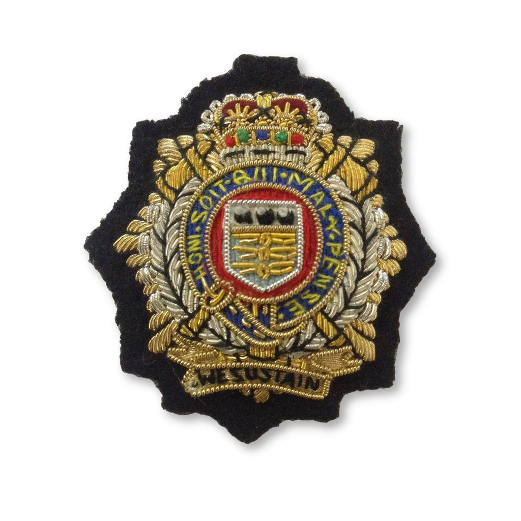 Beret Badge - RLC - B/W on Navy Backing [product_type] Ammo & Company - Military Direct